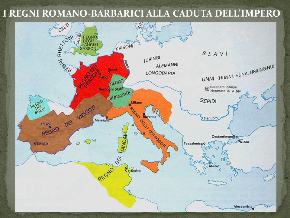 I popoli germanici si stabiliscono sul territorio a seguito della stipula di foedera.