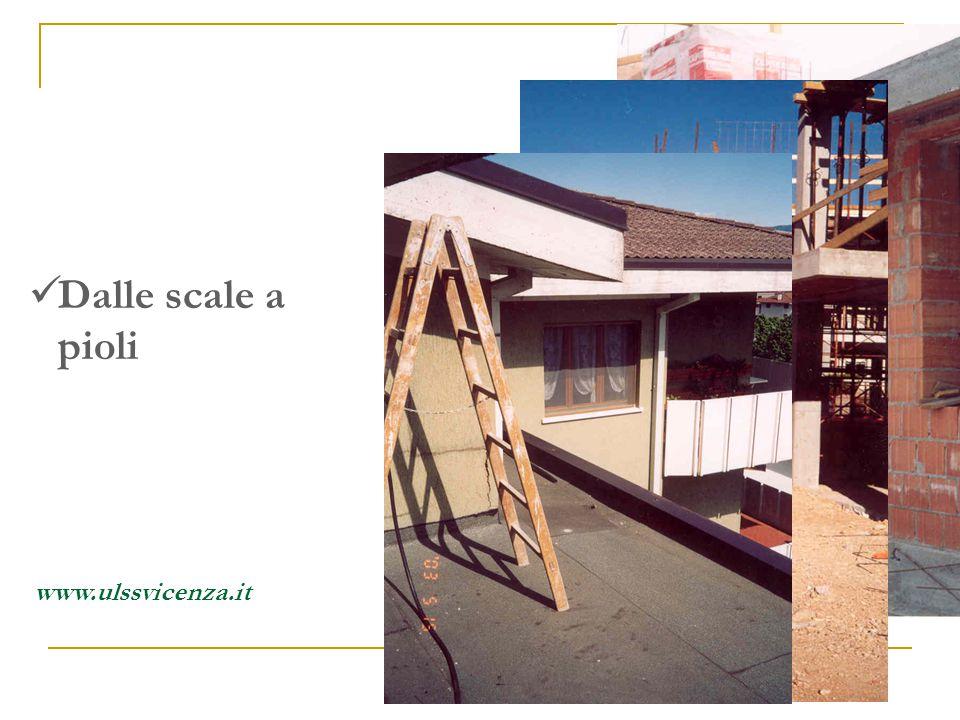 In cantiere si cade: Dalle scale a pioli www.ulssvicenza.it