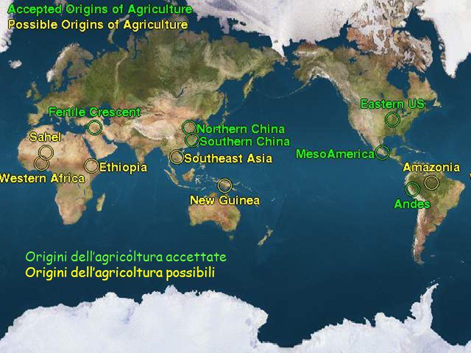 Origini dell'agricoltura accettate Origini dell'agricoltura possibili