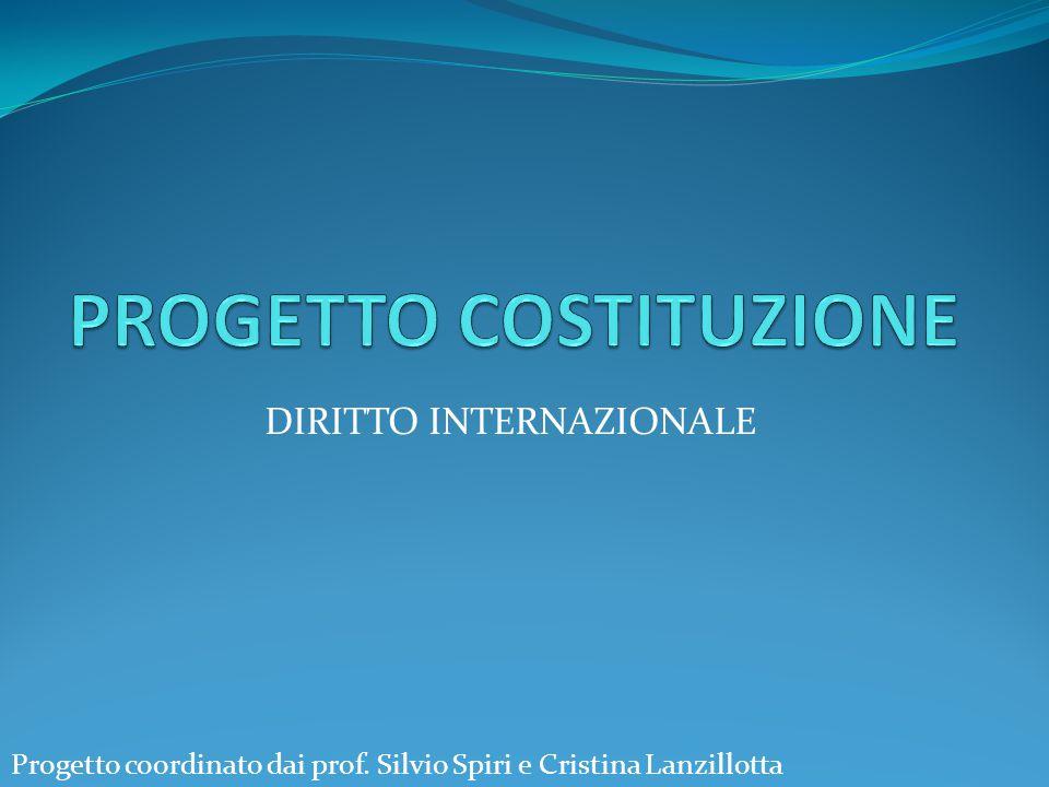 DIRITTO INTERNAZIONALE Progetto coordinato dai prof. Silvio Spiri e Cristina Lanzillotta