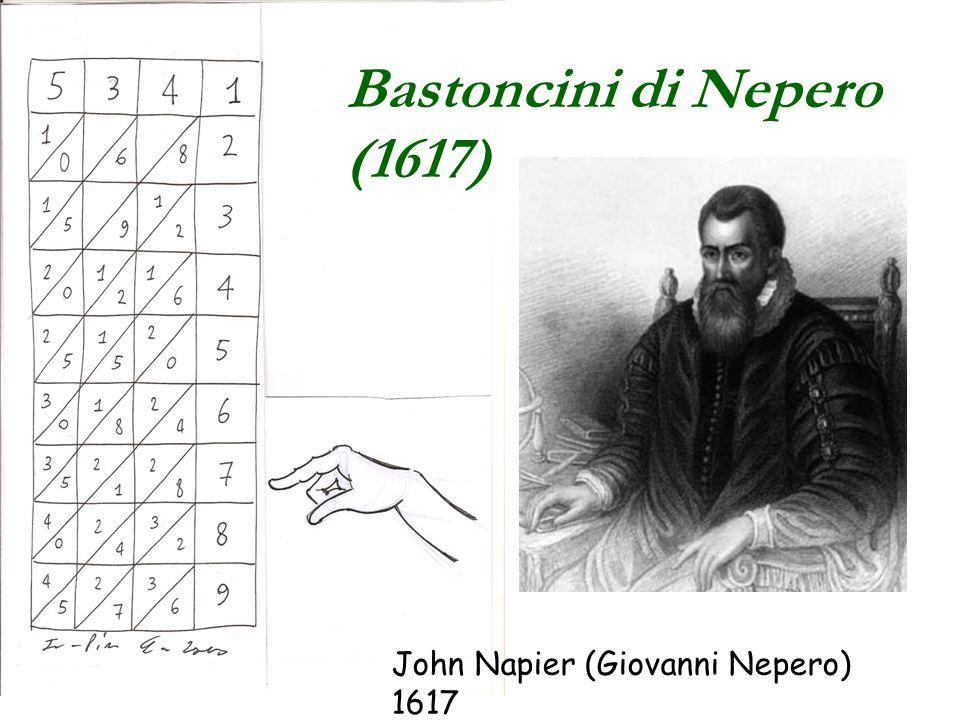 Bastoncini di Nepero (1617) John Napier (Giovanni Nepero) 1617