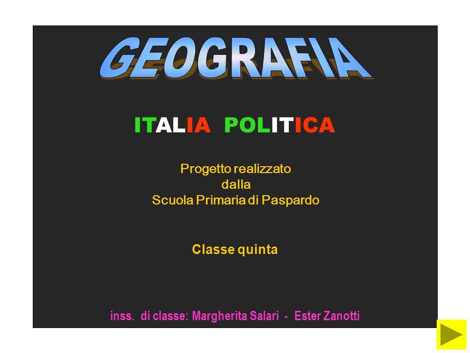 ITALIA POLITICA Progetto realizzato dalla Scuola Primaria di Paspardo Classe quinta inss.
