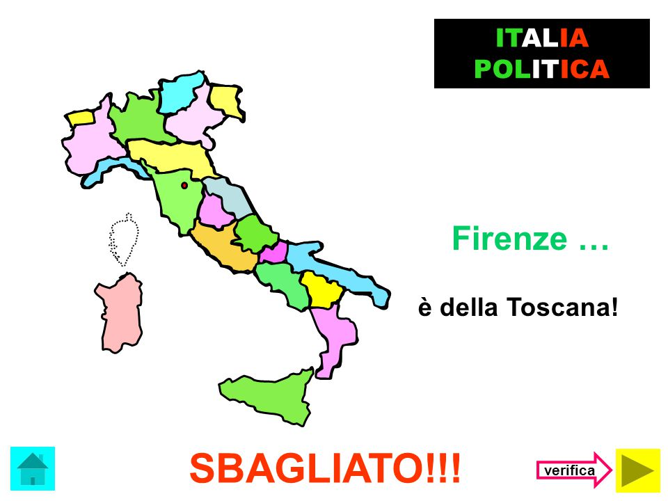Il capoluogo della Emilia Romagna è … Firenze Bologna ITALIA POLITICA (clicca sulla risposta corretta)