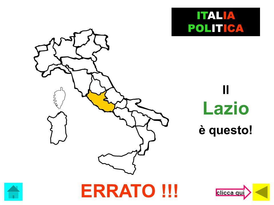 Marche Che regione è? ITALIA POLITICA (clicca sulla risposta corretta) Lazio Veneto