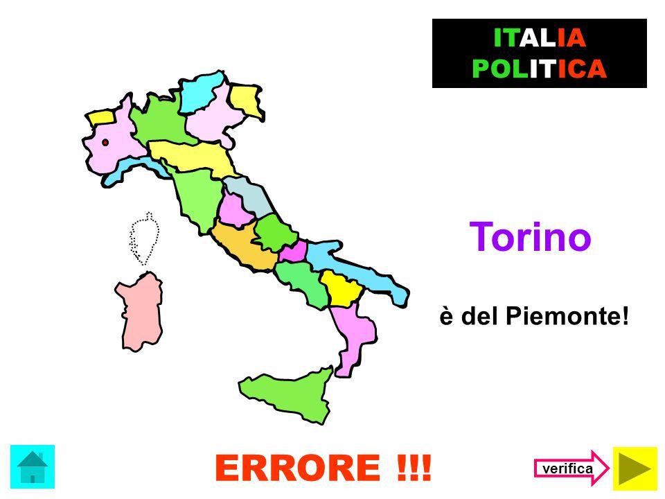 ITALIA POLITICA Il capoluogo della Lombardia è …. Torino Milano I capoluoghi di regione (clicca sulla risposta corretta)