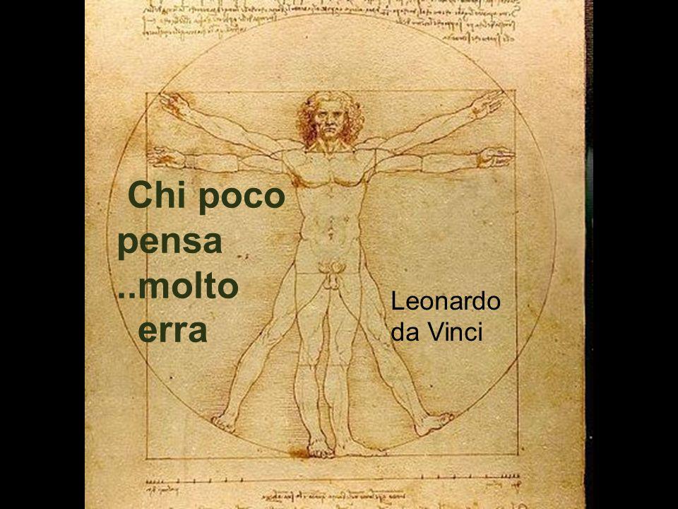 Leonardo da Vinci Chi poco pensa..molto erra