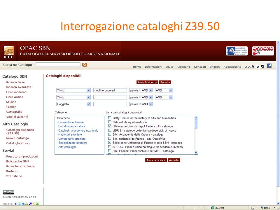 Lo stato dell'arte: interoperabilità tra servizi ILL GATEWAY ILL-SBN Cataloghi z39.50 Opac PA Biblioteche Sebina Open Library-SOL Biblioteche Aleph
