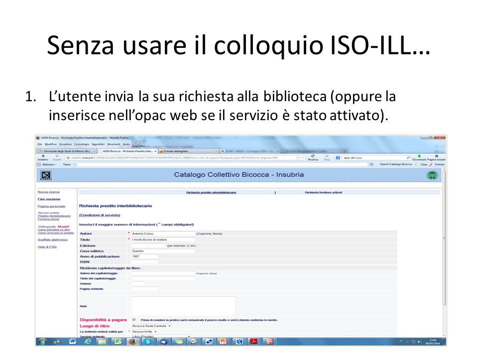 Il modulo integrated ILL Anche con il nuovo modulo, resta la necessità di duplicare le richieste su diversi sistemi se si sceglie Aleph come unico dat
