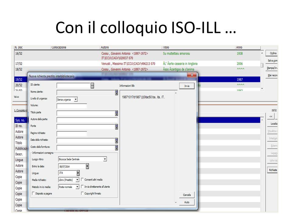Con il colloquio ISO-ILL …