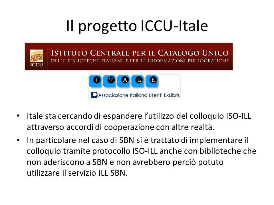 Il progetto ICCU-Itale L'utilizzo del protocollo ISO-ILL diventa più conveniente tante più sono le biblioteche aderenti. Gestire l'ISO-ILL solo con po