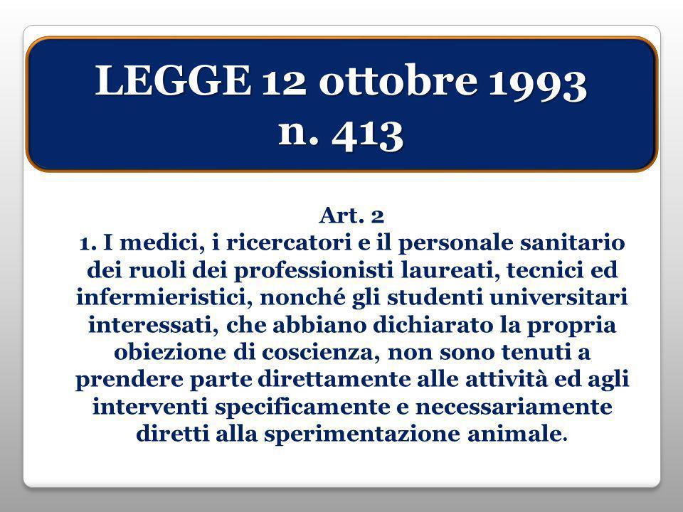 LEGGE 12 ottobre 1993 n. 413 Art. 2 1.