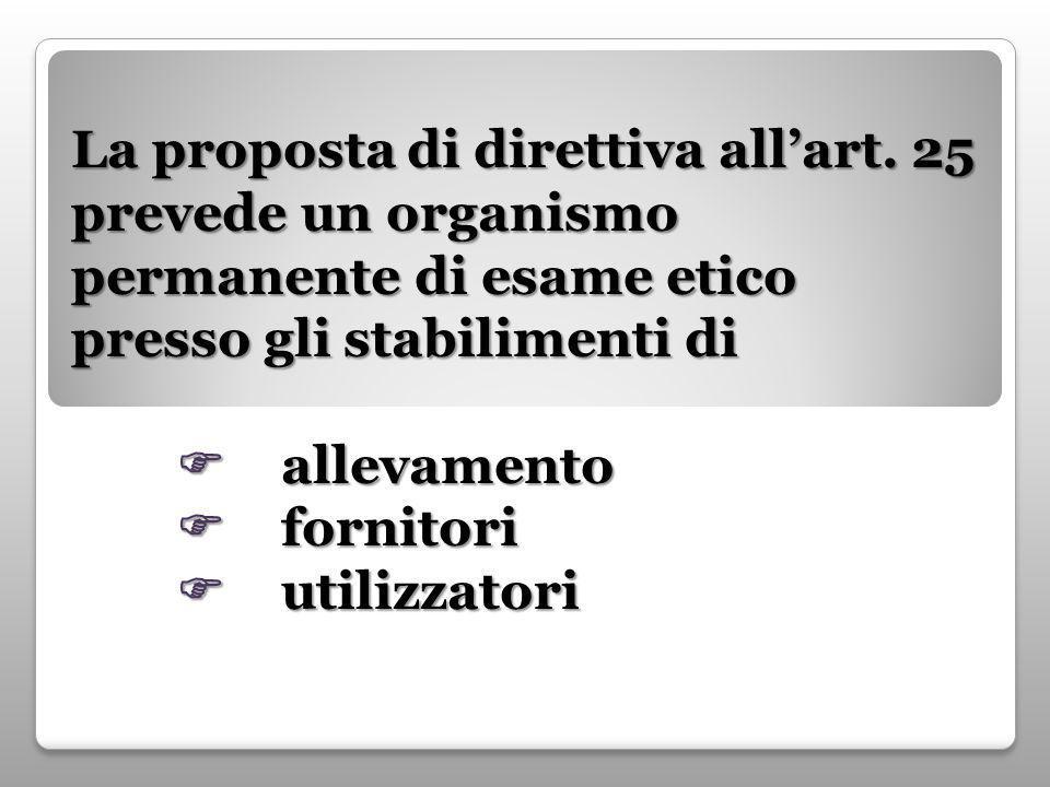La proposta di direttiva all'art.