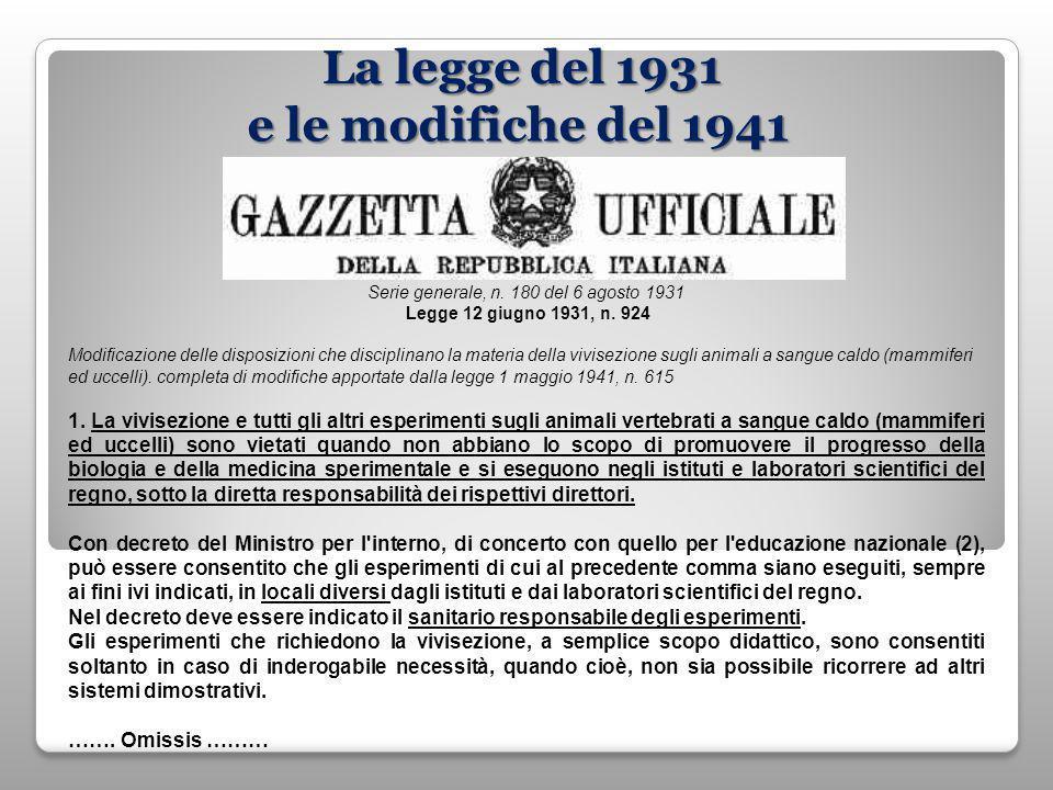 Serie generale, n. 180 del 6 agosto 1931 Legge 12 giugno 1931, n.