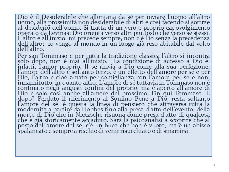 1961 Levinas scrive il suo libro più famoso, Totalité et infini 1967 DERRIDA scrive L'écriture et la différence in cui dialoga con Levinas 1974 Levinas ripenserà Totalité et infini a partire dalle critiche che gli aveva mosso Derrida e scriverà Autrement qu' être 5
