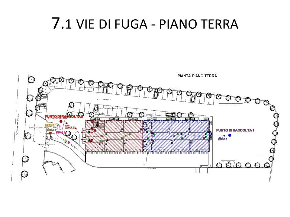 7. 1 VIE DI FUGA - PIANO TERRA PIANTA PIANO TERRA