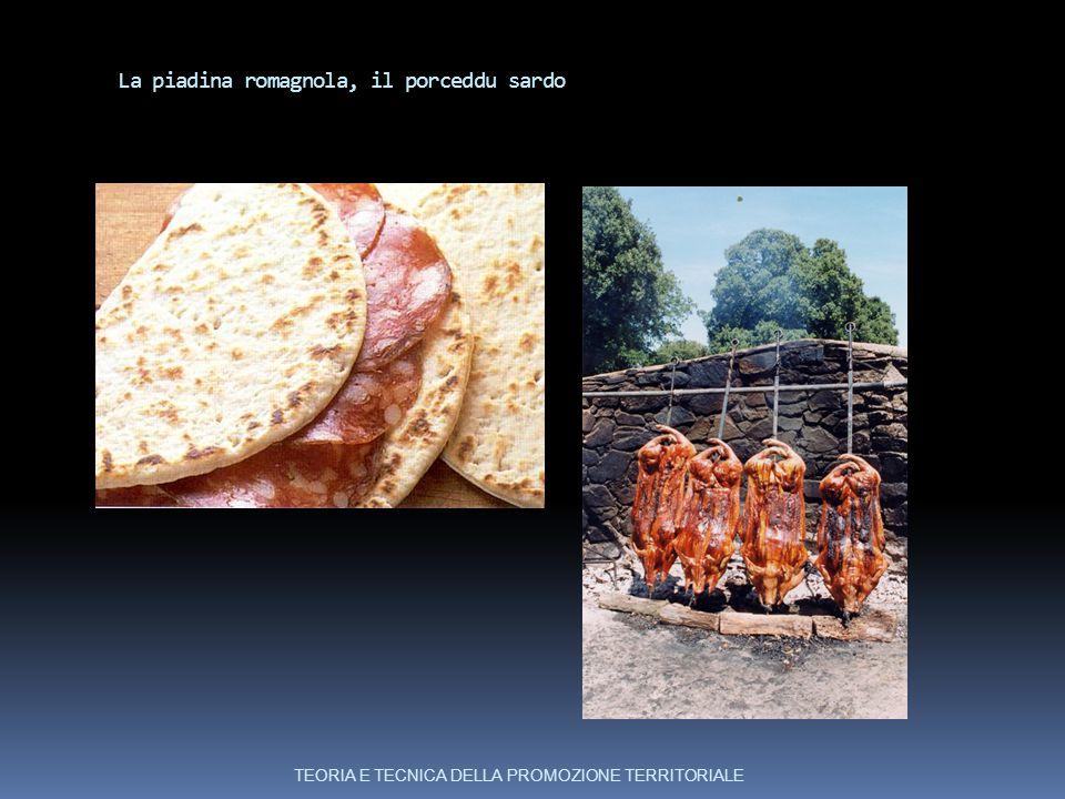 La piadina romagnola, il porceddu sardo TEORIA E TECNICA DELLA PROMOZIONE TERRITORIALE