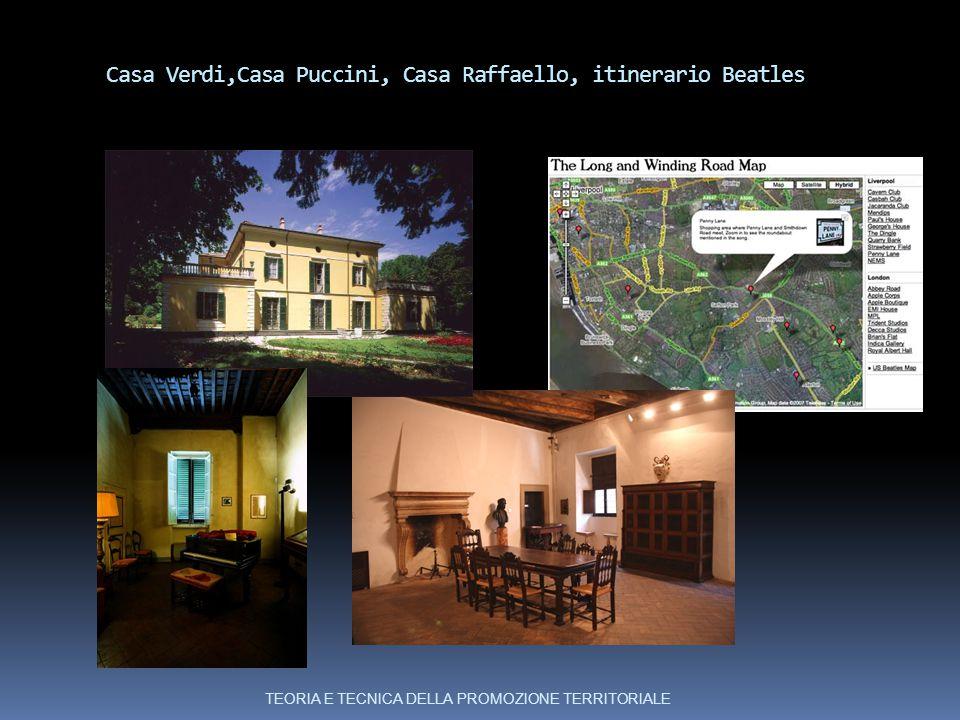 Casa Verdi,Casa Puccini, Casa Raffaello, itinerario Beatles TEORIA E TECNICA DELLA PROMOZIONE TERRITORIALE