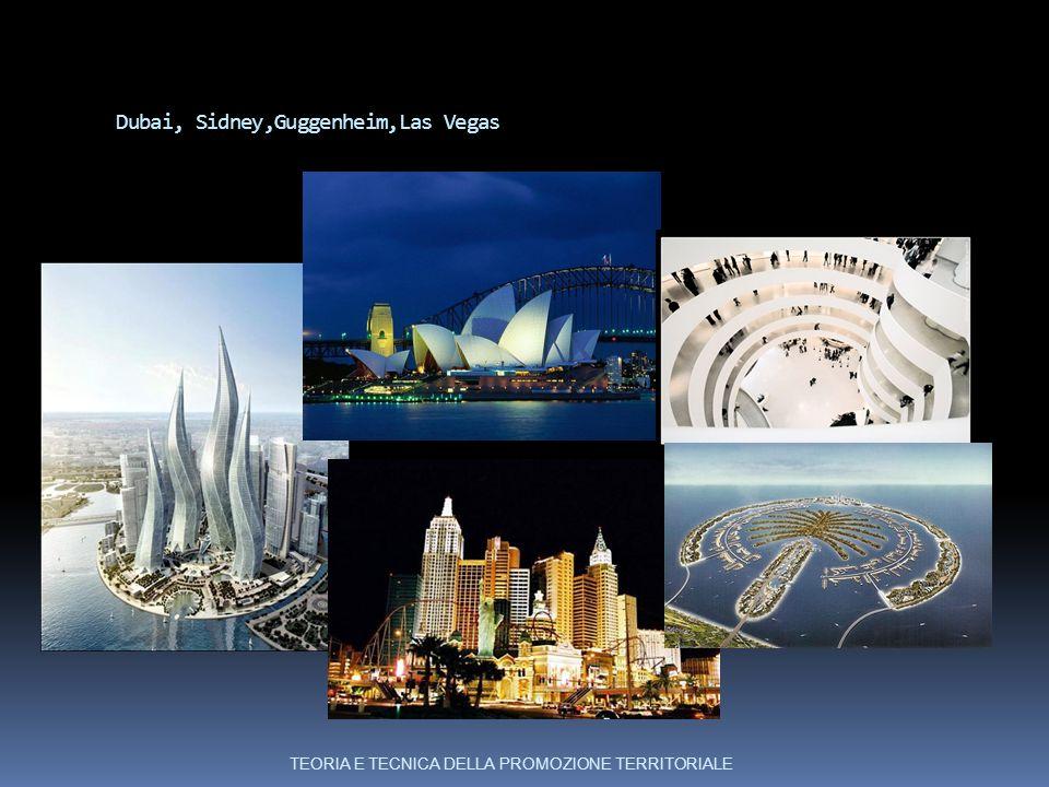 Dubai, Sidney,Guggenheim,Las Vegas TEORIA E TECNICA DELLA PROMOZIONE TERRITORIALE