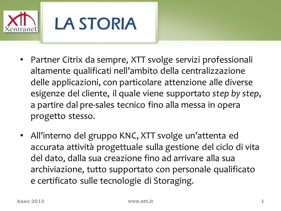 Partner Citrix da sempre, XTT svolge servizi professionali altamente qualificati nell'ambito della centralizzazione delle applicazioni, con particolare attenzione alle diverse esigenze del cliente, il quale viene supportato step by step, a partire dal pre-sales tecnico fino alla messa in opera progetto stesso.