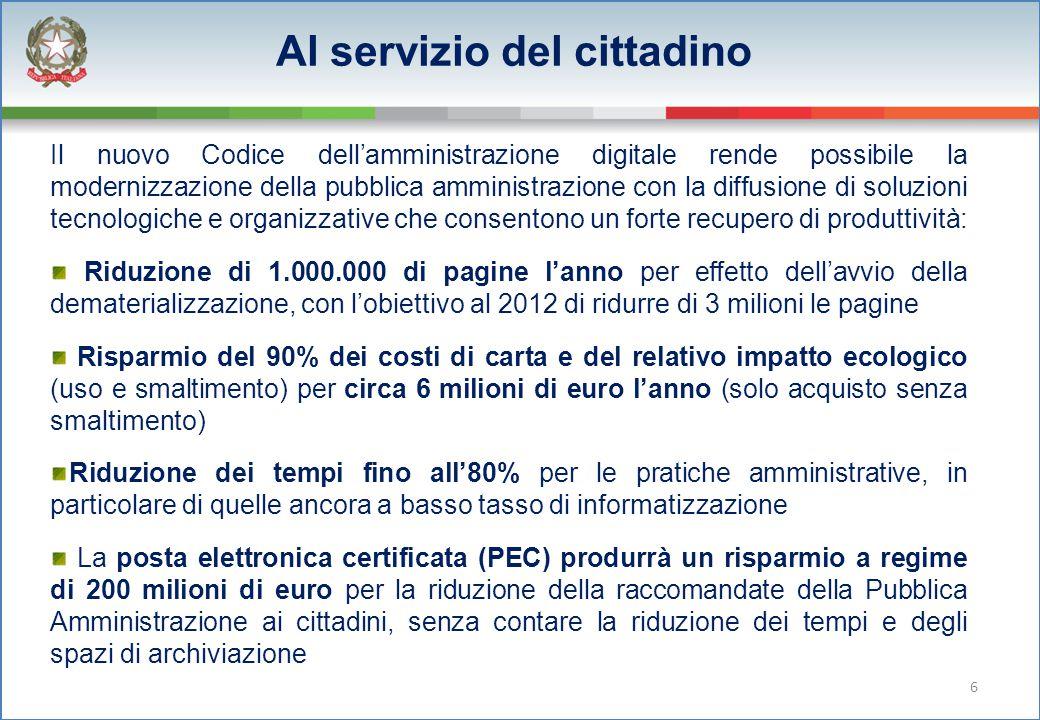 Il nuovo Codice dell'amministrazione digitale rende possibile la modernizzazione della pubblica amministrazione con la diffusione di soluzioni tecnolo