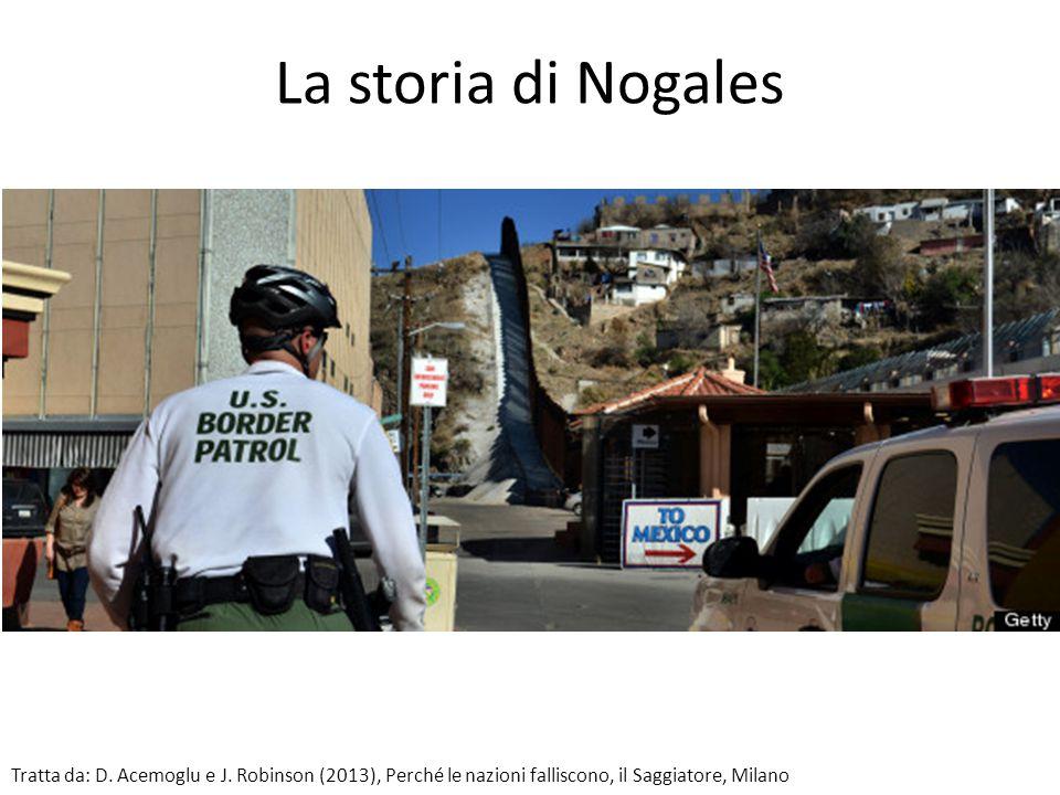 La storia di Nogales Tratta da: D. Acemoglu e J. Robinson (2013), Perché le nazioni falliscono, il Saggiatore, Milano