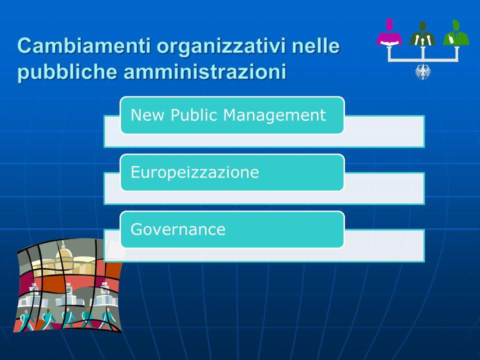 New Public ManagementEuropeizzazioneGovernance