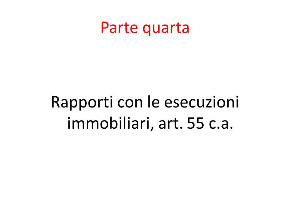 Parte quarta Rapporti con le esecuzioni immobiliari, art. 55 c.a.