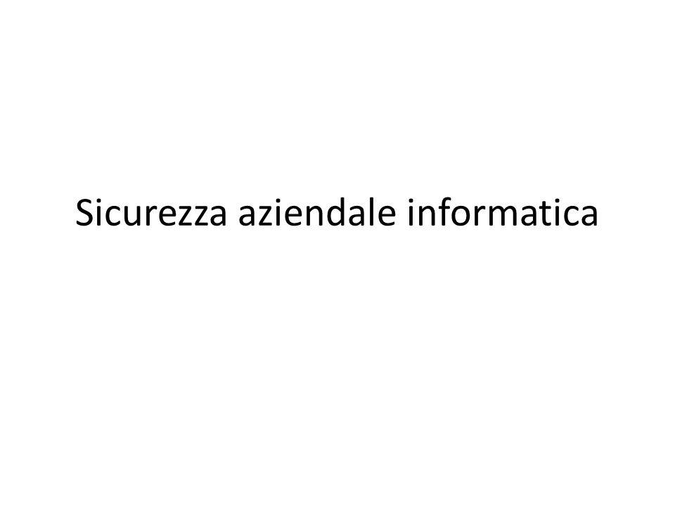 Sicurezza aziendale informatica