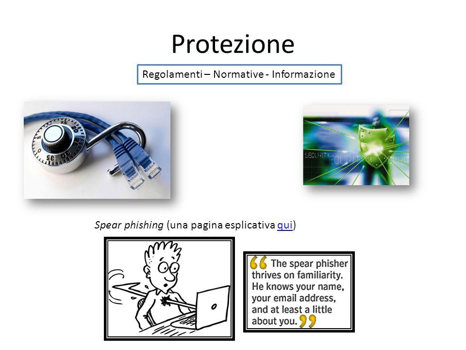 Protezione Regolamenti – Normative - Informazione Spear phishing (una pagina esplicativa qui)qui