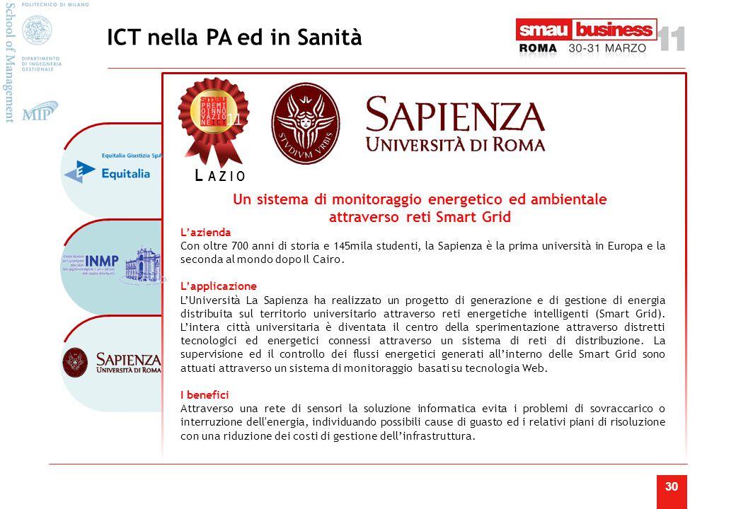 30 L'azienda Con oltre 700 anni di storia e 145mila studenti, la Sapienza è la prima università in Europa e la seconda al mondo dopo Il Cairo.