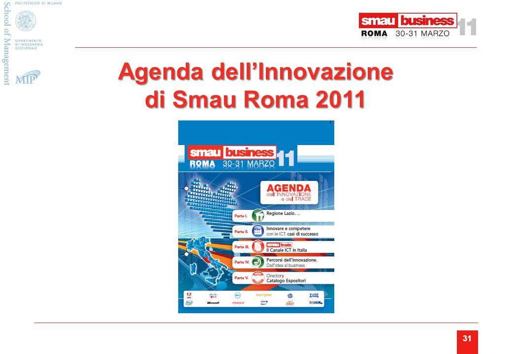 31 Agenda dell'Innovazione di Smau Roma 2011
