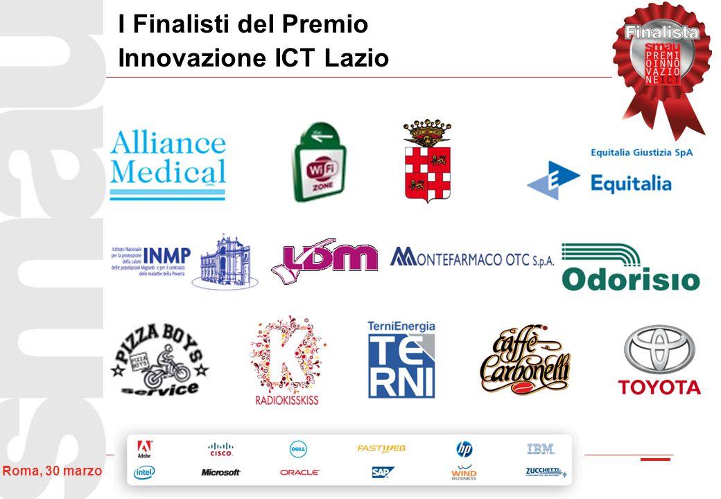 33 Roma, 30 marzo I Finalisti del Premio Innovazione ICT Lazio