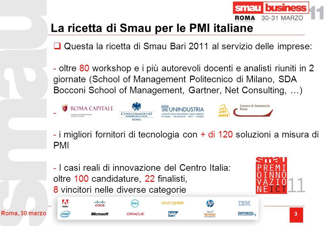 34 Roma, 30 marzo Premio Innovazione ICT Lazio