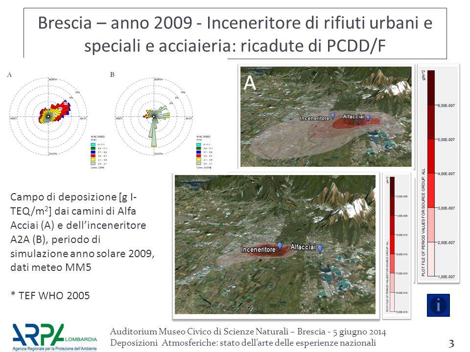 Auditorium Museo Civico di Scienze Naturali – Brescia - 5 giugno 2014 Deposizioni Atmosferiche: stato dell'arte delle esperienze nazionali 4