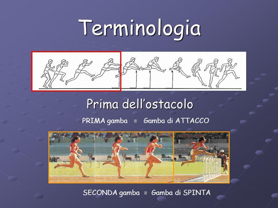 Terminologia Sopra l'ostacolo PRIMA gamba = Gamba di ATTACCO SECONDA gamba = Gamba di PASSAGGIO o di RITORNO