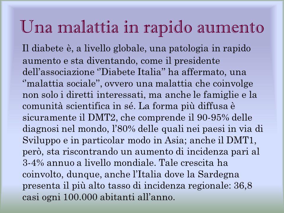 Una malattia in rapido aumento Il diabete è, a livello globale, una patologia in rapido aumento e sta diventando, come il presidente dell'associazione