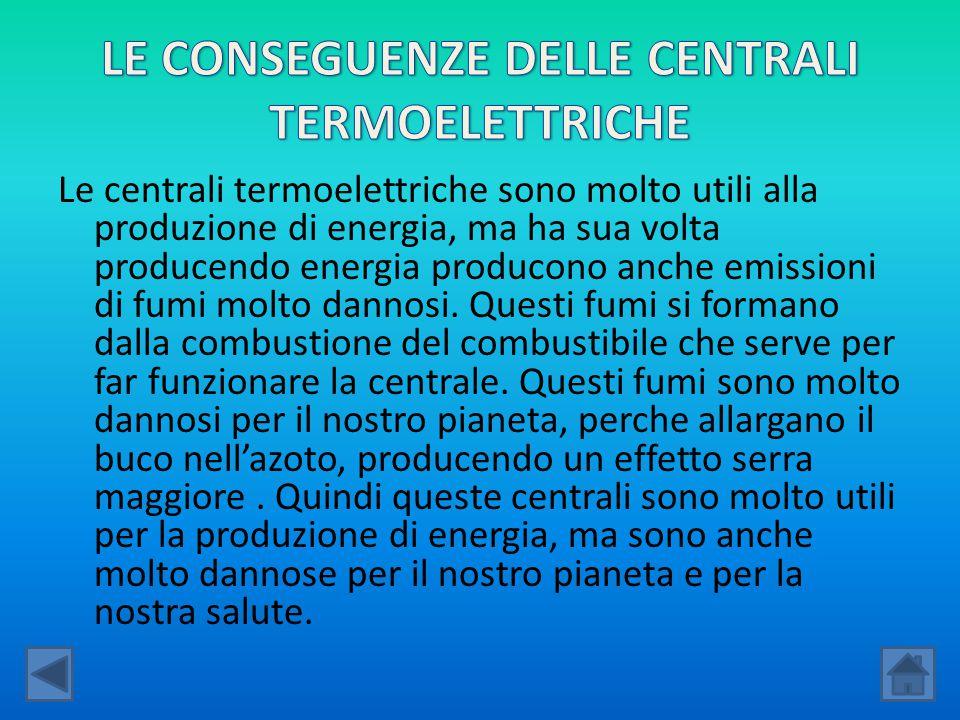 Le centrali termoelettriche sono molto utili alla produzione di energia, ma ha sua volta producendo energia producono anche emissioni di fumi molto da