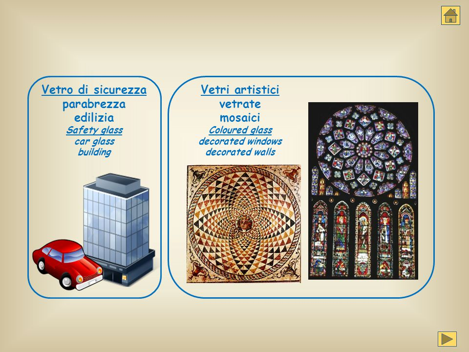Vetro di sicurezza parabrezza edilizia Safety glass car glass building Vetri artistici vetrate mosaici Coloured glass decorated windows decorated wall