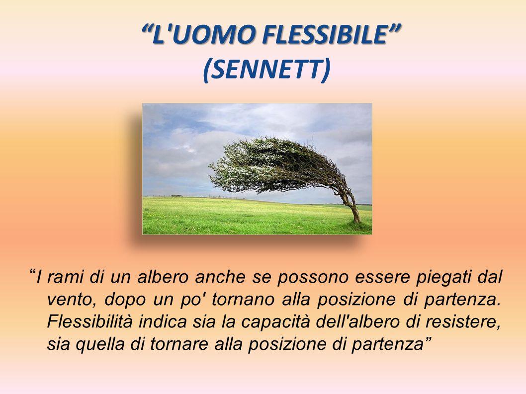 """""""L'UOMO FLESSIBILE"""" """"L'UOMO FLESSIBILE"""" (SENNETT) """" I rami di un albero anche se possono essere piegati dal vento, dopo un po' tornano alla posizione"""