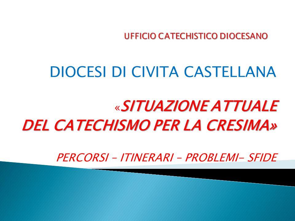 DIOCESI DI CIVITA CASTELLANA SITUAZIONE ATTUALE « SITUAZIONE ATTUALE DEL CATECHISMO PER LA CRESIMA» PERCORSI – ITINERARI – PROBLEMI- SFIDE
