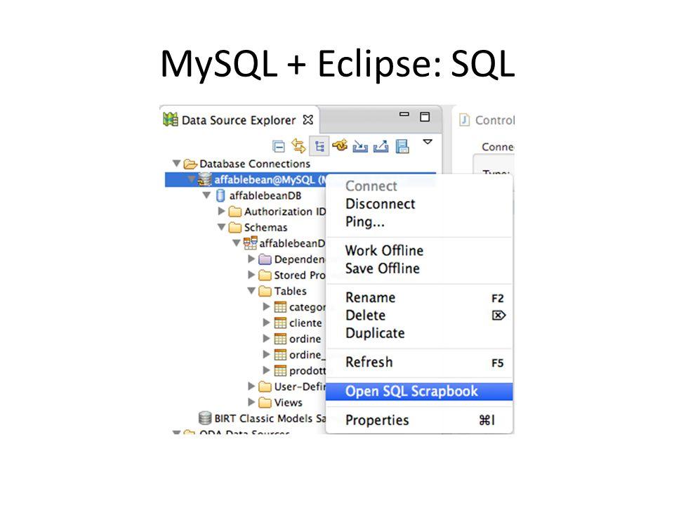 MySQL + Eclipse: SQL