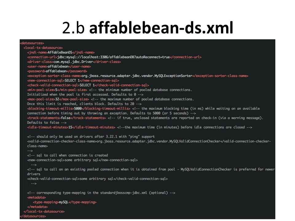 2.b affablebean-ds.xml