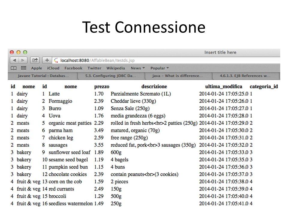 Test Connessione