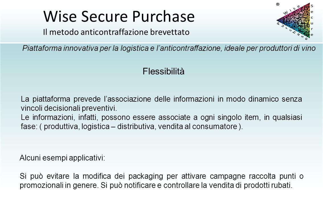 Flessibilità La piattaforma prevede l'associazione delle informazioni in modo dinamico senza vincoli decisionali preventivi. Le informazioni, infatti,