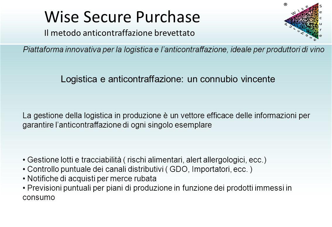 La gestione della logistica in produzione è un vettore efficace delle informazioni per garantire l'anticontraffazione di ogni singolo esemplare Logist