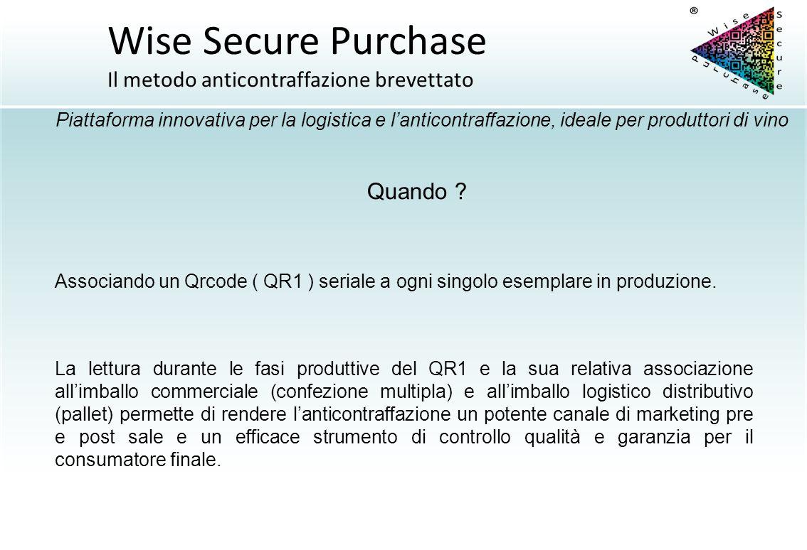 Quando ? Associando un Qrcode ( QR1 ) seriale a ogni singolo esemplare in produzione. La lettura durante le fasi produttive del QR1 e la sua relativa