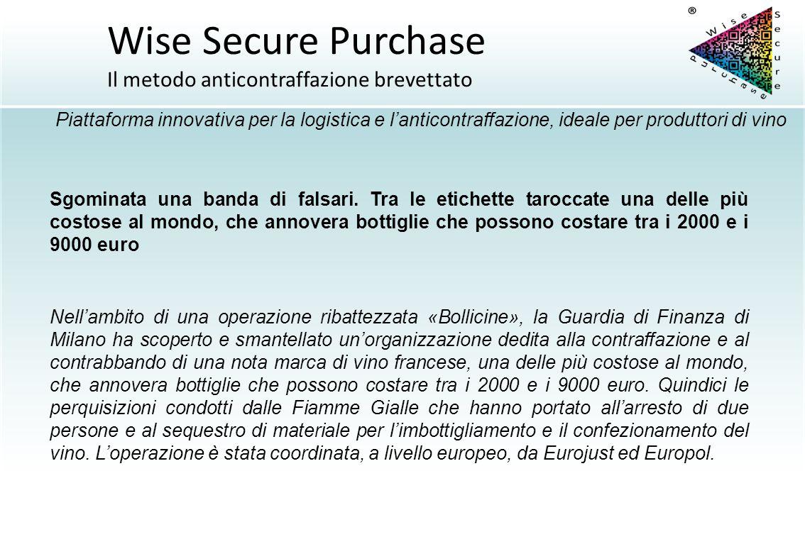 Nell'ambito di una operazione ribattezzata «Bollicine», la Guardia di Finanza di Milano ha scoperto e smantellato un'organizzazione dedita alla contra