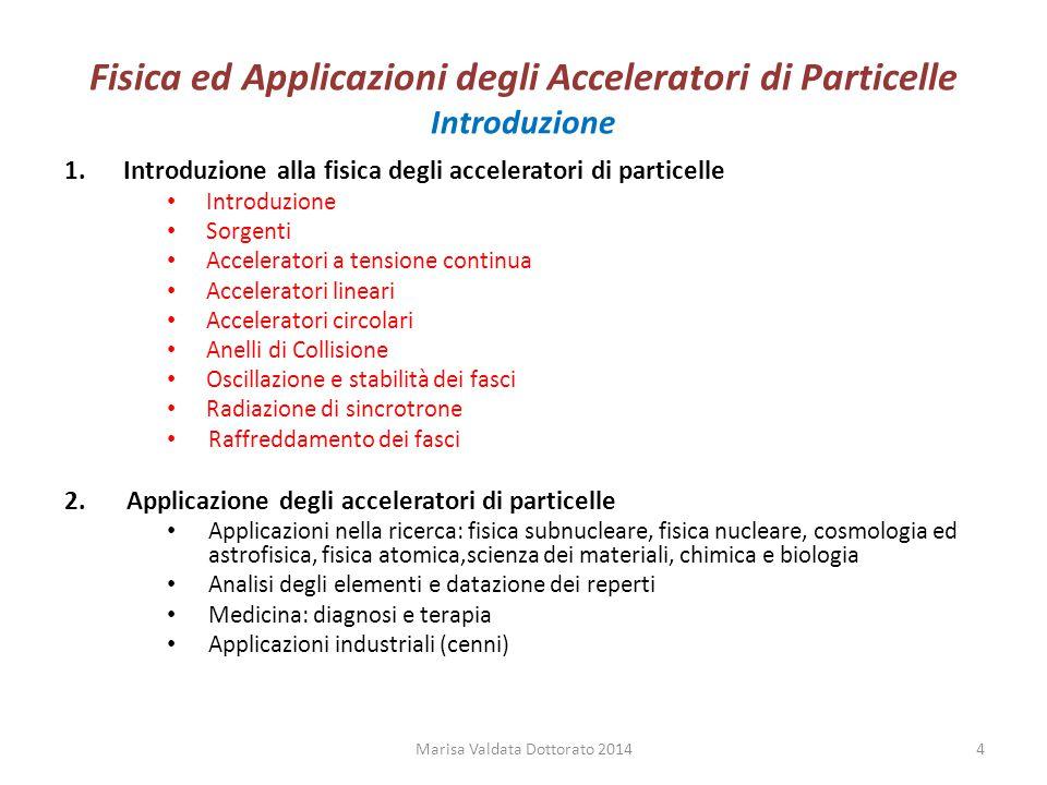 Fisica ed Applicazioni degli Acceleratori di Particelle Introduzione Gli acceleratori sono nati per lo studio della fisica nucleare e subnucleare.