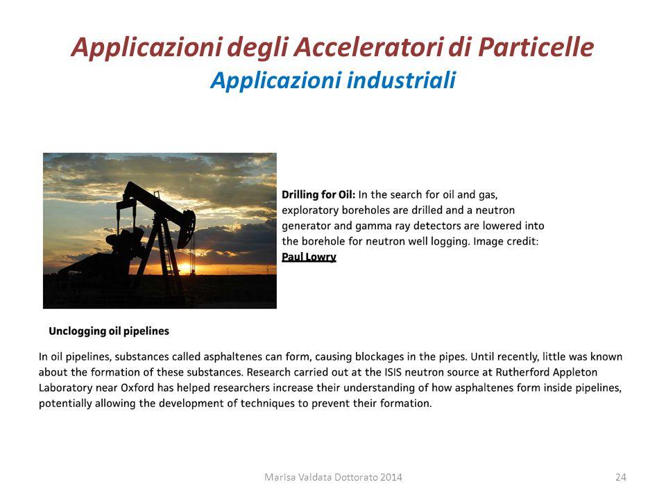 Applicazioni degli Acceleratori di Particelle Applicazioni industriali Marisa Valdata Dottorato 201424