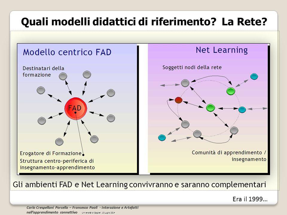 Quali modelli didattici di riferimento? La Rete? Gli ambienti FAD e Net Learning convivranno e saranno complementari (Broadcast: TV o web based)(Netwo